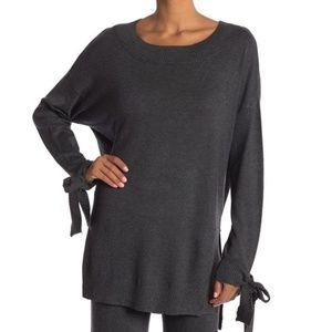 Shimera Rib Trim Tie Sleeve Hi-Lo Sweater NWT